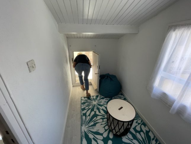 accès terrasse à l'étage